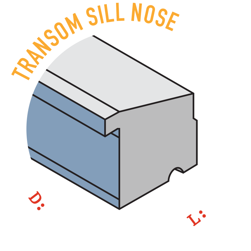 Transom Sill Nose